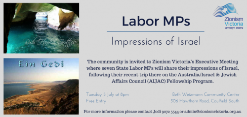 Labor MPs Executive Meeting Flier